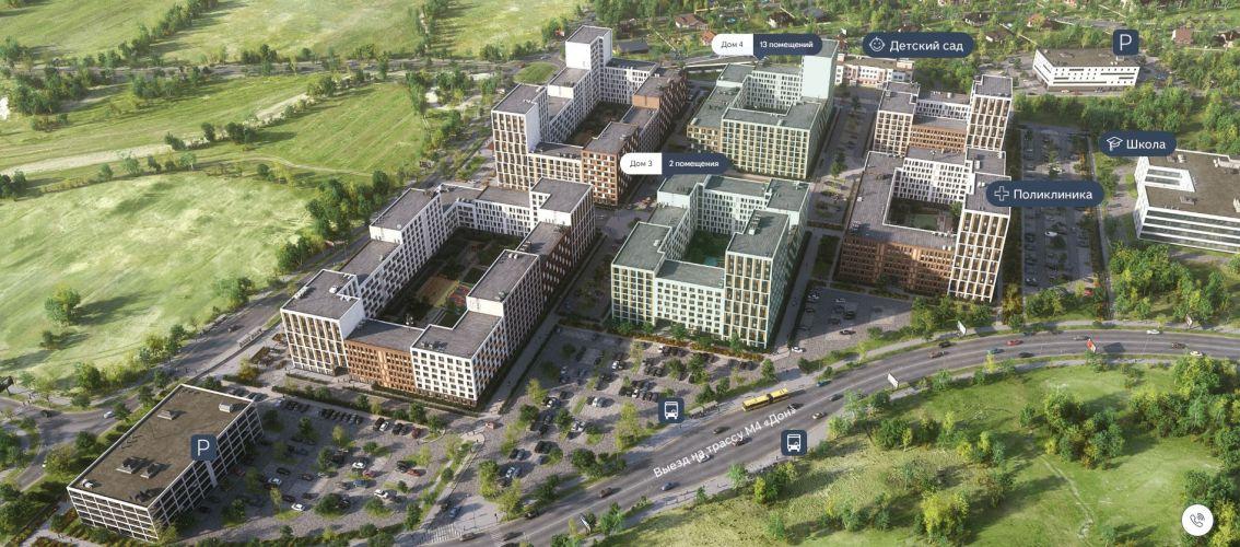 Продажа торговых помещений в ЖК «Первый Квартал» в Видном