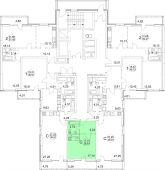1-комнатная квартира 28.81 м²