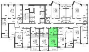 1-комнатная квартира 30.27 м²