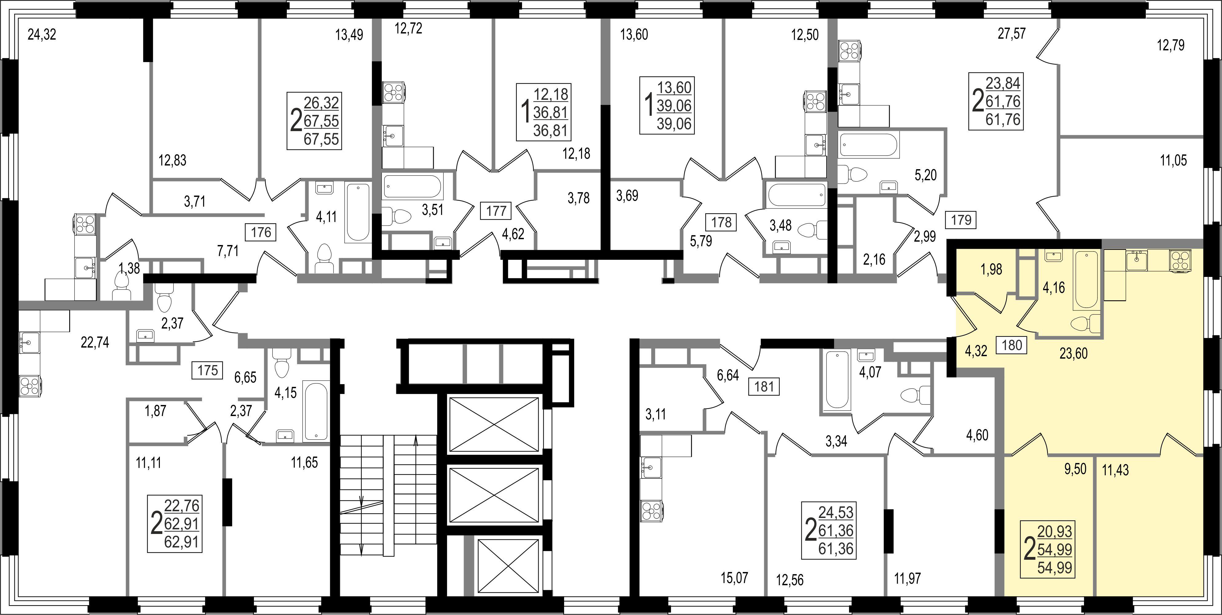 2-комнатная квартира, №6