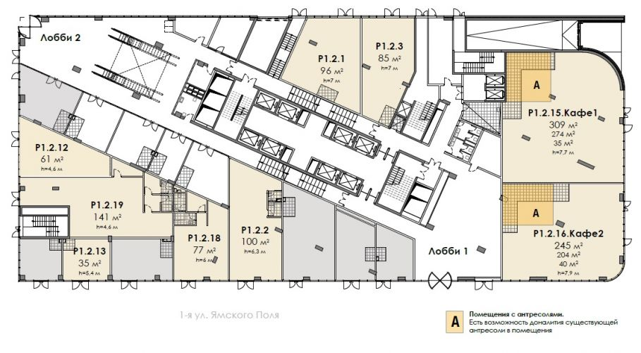 Торговое помещение в бизнес-центре «БЦ Stone Белорусская», 85,06 м2 за 31 812 440 руб.