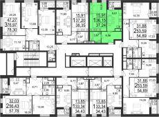1-комнатная квартира 37.24 м²