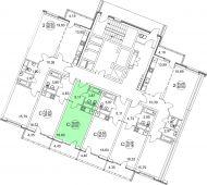 1-комнатная квартира 30.01 м²
