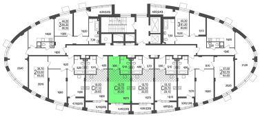 1-комнатная квартира 29.55 м²