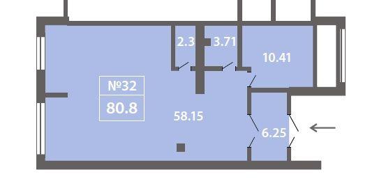 ПСН в ЖК «Лучи», 80,83 м2 за 15 761 850 руб.