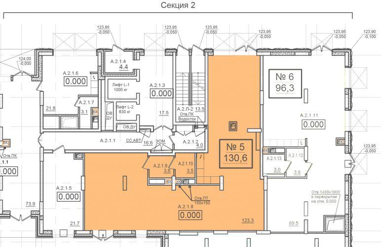 ПСН в жилом доме «ЗИЛАРТ», 130,6 м2 за 391 800 руб.
