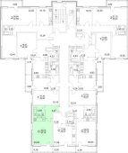 1-комнатная квартира 33.15 м²