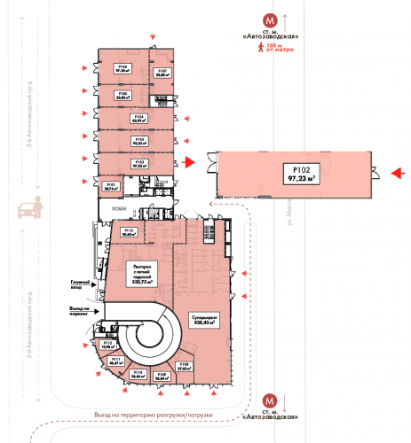 Торговое помещение в ЖК «STORY», 97,23 м2 за 388 920 руб.