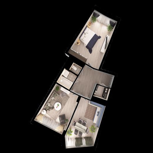 2-комнатная квартира № 88
