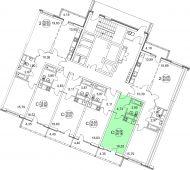 1-комнатная квартира 28.25 м²