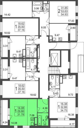 Квартира-студия, 31,8 м² за 2,20 млн руб.