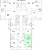 1-комнатная квартира 33.2 м²