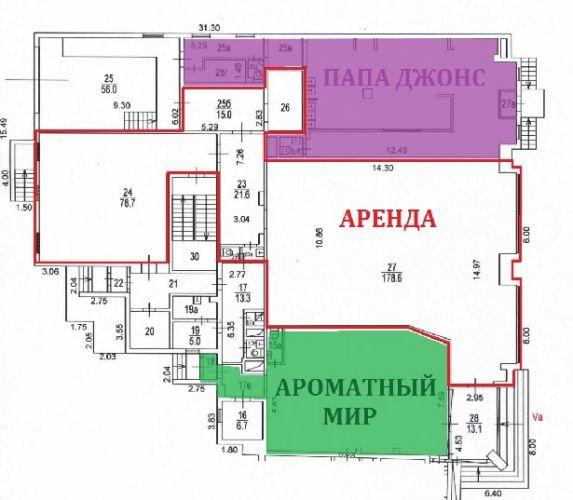ПСН в встроенном помещении, 306,4 м2 за 699 818 руб.
