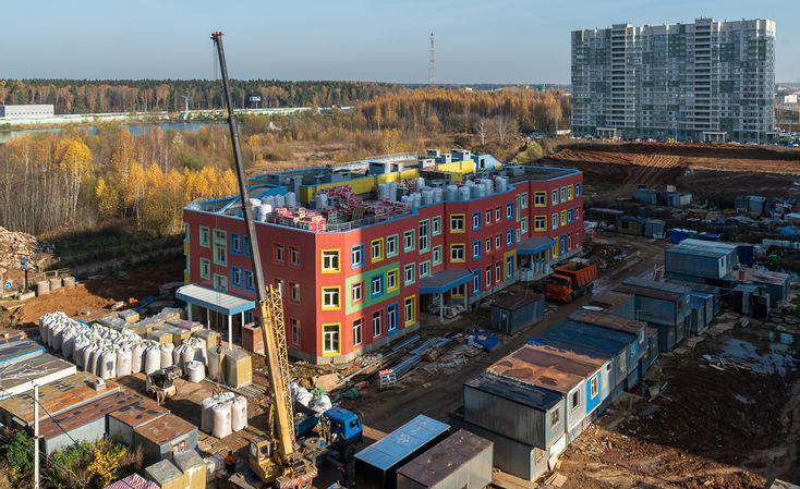 Детский сад построен на 65%
