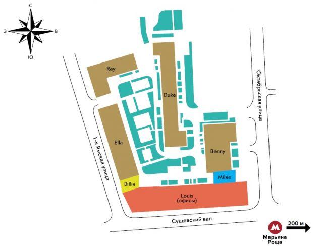 Продажа коммерческой недвижимости в нежилом здании «Квартал Jazz» в районе Марьина роща