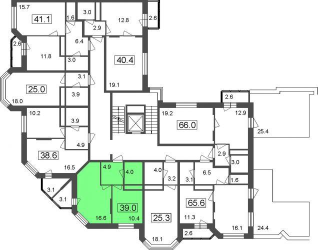 1-комнатные апартаменты, 35,9 м² за 2,84 млн руб.