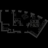 2-комнатная квартира 58,78 м²