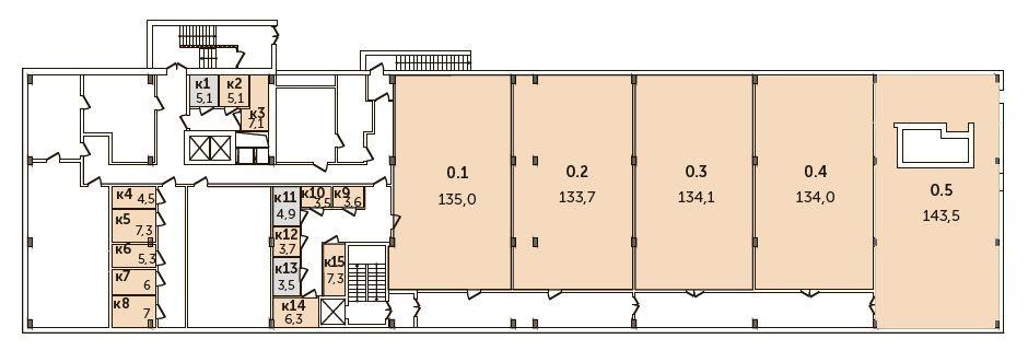 Арендный бизнес в ЖК «Комплекс апартаментов VIVALDI», 138,8 м2 за 17 350 000 руб.