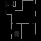 2-комнатная квартира 54,99 м²