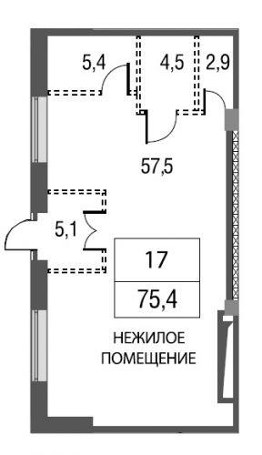 ПСН в ЖК «Silver», 75,4 м2 за 20 740 052 руб.