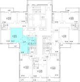 1-комнатная квартира 39.13 м²