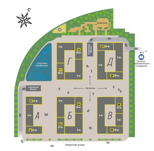 Продажа офисов в ЖК «Level Амурская» в районе Гольяново