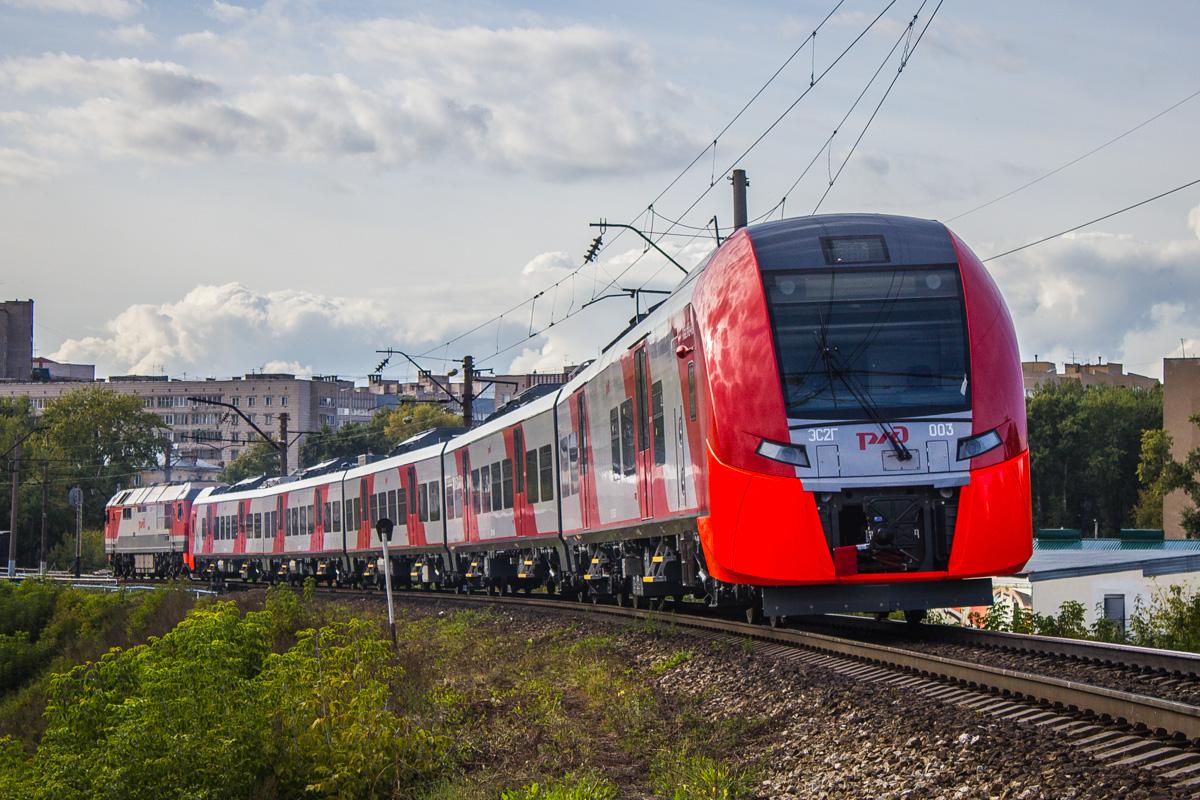 На маршрут D2 вышла первая «Ласточка» в ливрее МЦД!