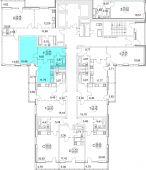 1-комнатная квартира 42.82 м²