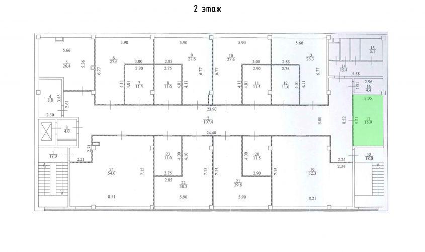 Торговое помещение в ТЦ «Дуэт», 15,9 м2 за 33 390 руб.