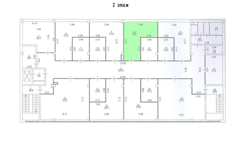 Торговое помещение в ТЦ «Дуэт», 27,6 м2 за 63 480 руб.