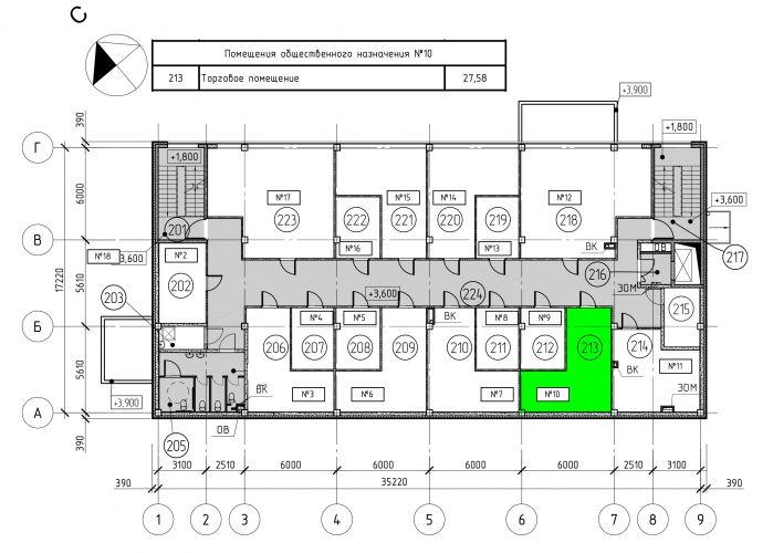 Торговое помещение в ТЦ «Дуэт», 27,58 м2 за 55 160 руб.