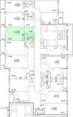 1-комнатная квартира 30.81 м²