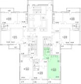 1-комнатная квартира 36.67 м²