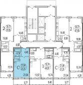 1-комнатная квартира 29.58 м²