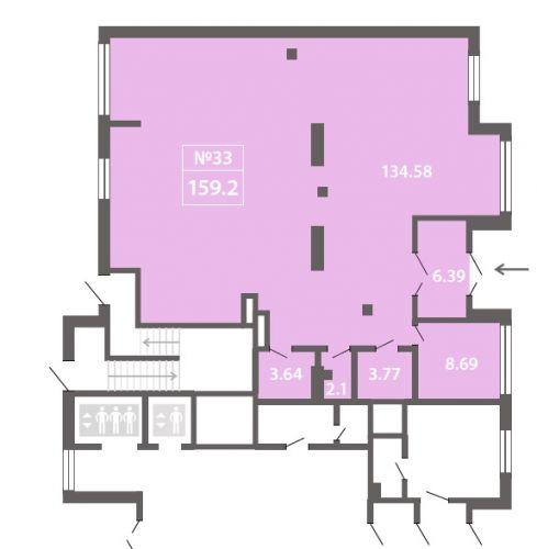 ПСН в ЖК «Лучи», 159,15 м2 за 26 196 090 руб.