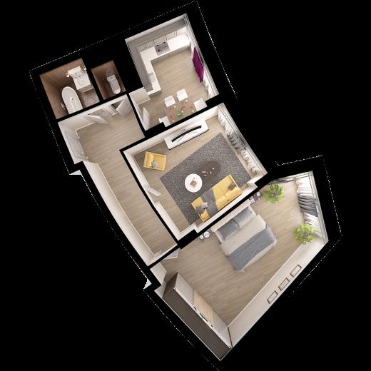2-комнатная квартира № 4