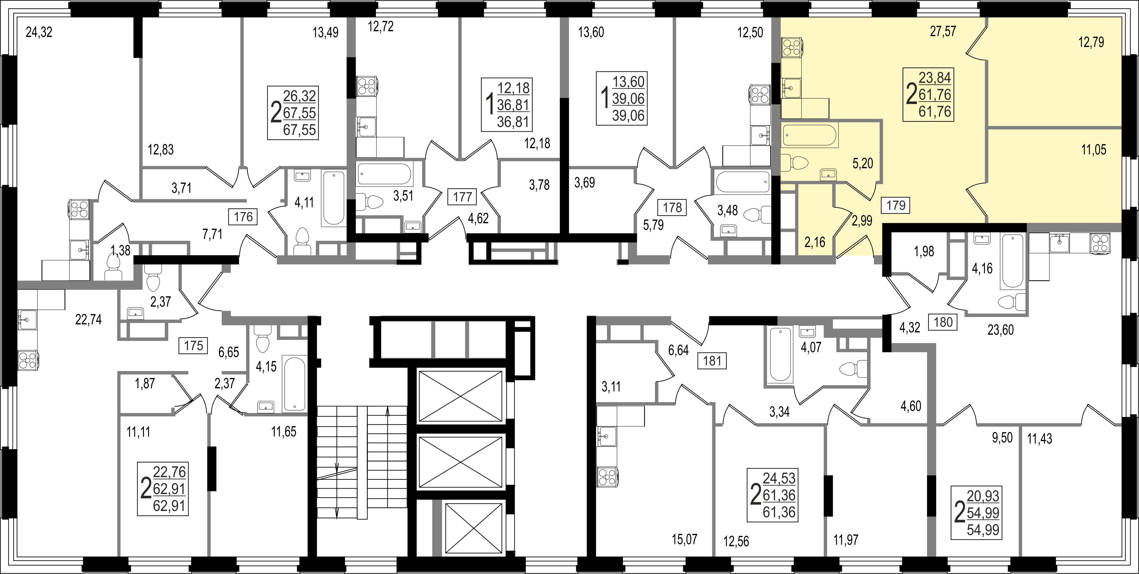 2-комнатная квартира, №5