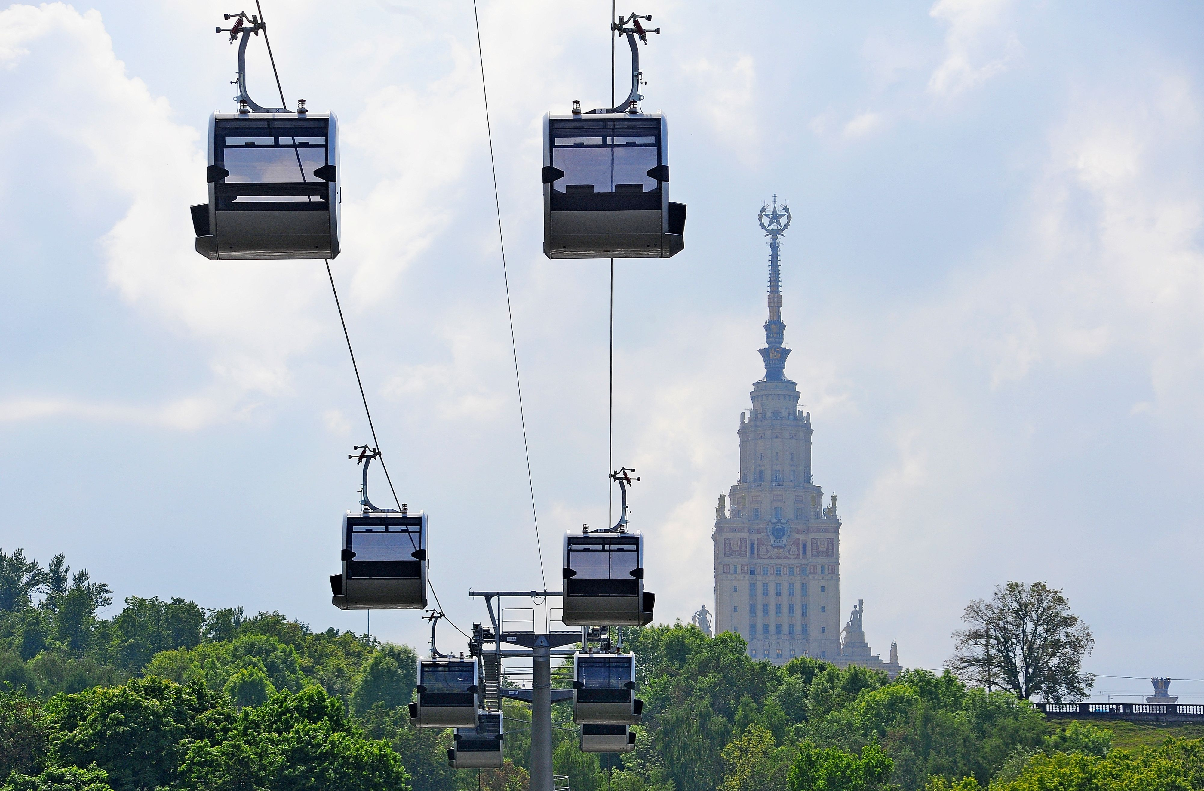 В Москве построят три канатные дороги