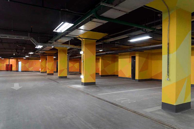 Подземный паркинг и кладовые помещения