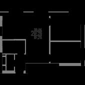 2-комнатная квартира 61,76 м²