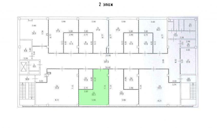 Торговое помещение в ТЦ «Дуэт», 30,3 м2 за 57 570 руб.