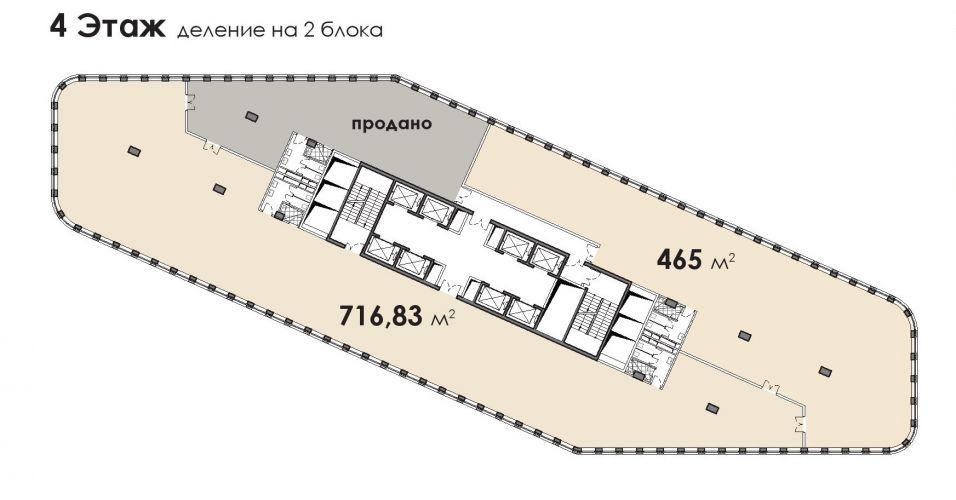 Офис в бизнес-центре «БЦ Stone Белорусская», 465,23 м2 за 106 537 670 руб.