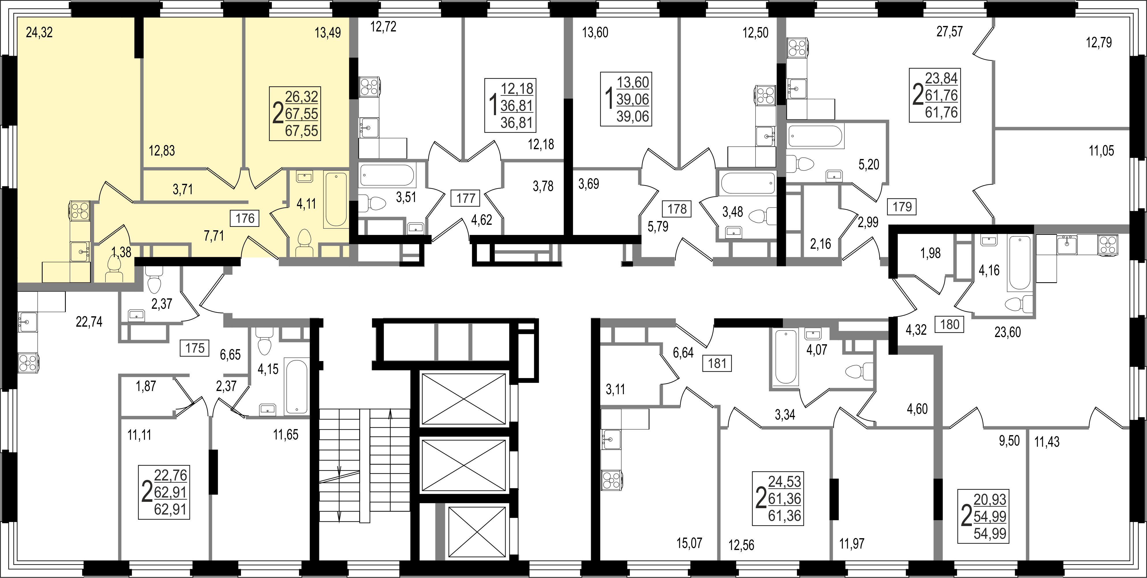 2-комнатная квартира, №2