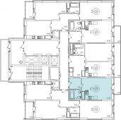 1-комнатная квартира 30.74 м²
