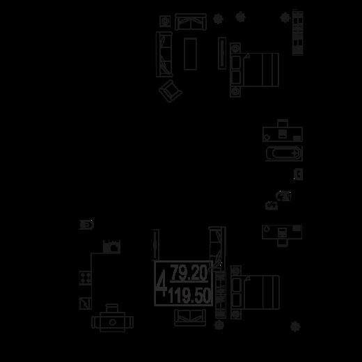 4-комнатная квартира № 99