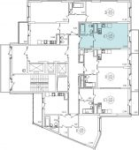 1-комнатная квартира 30.96 м²