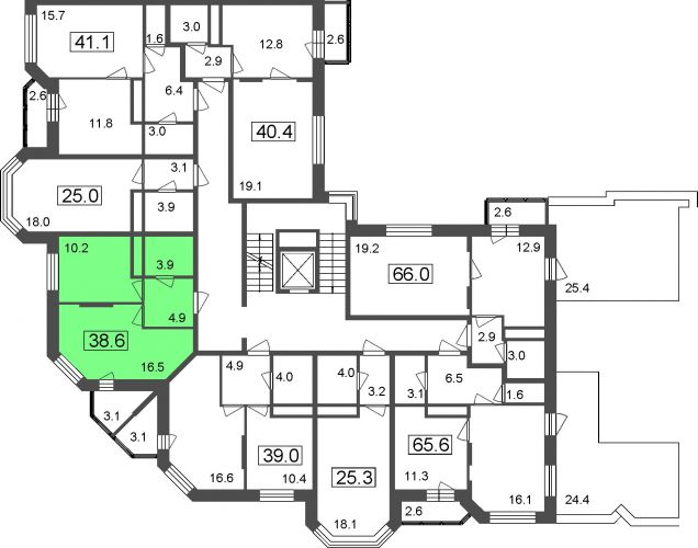 1-комнатные апартаменты, 35,5 м² за 2,80 млн руб.