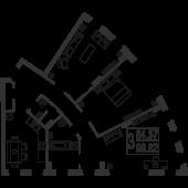 3-комнатная квартира 99,82 м²