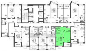 1-комнатная квартира 48 м²