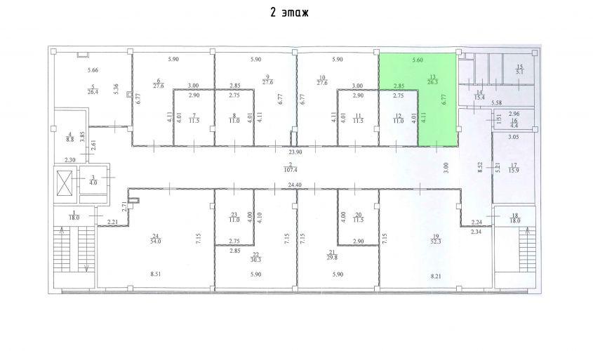 Торговое помещение в ТЦ «Дуэт», 26,3 м2 за 52 600 руб.